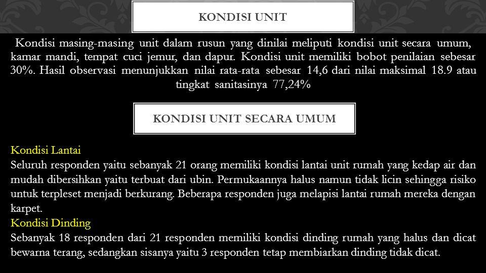 Kondisi Unit secara umum