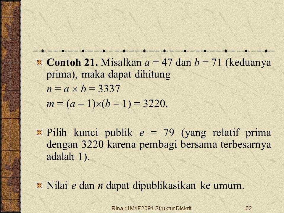 Rinaldi M/IF2091 Struktur Diskrit