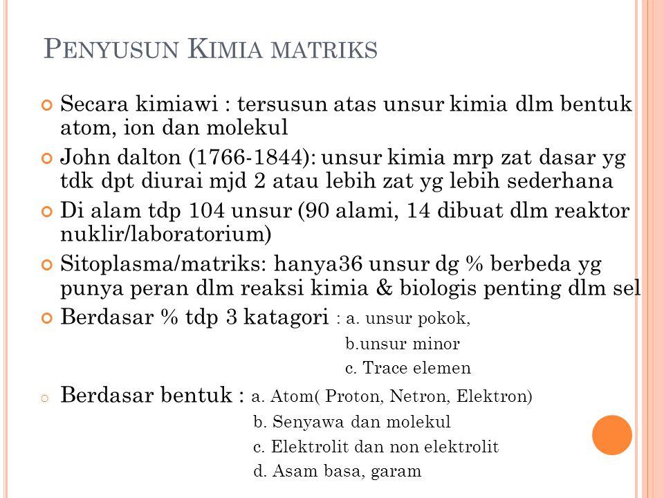 Penyusun Kimia matriks