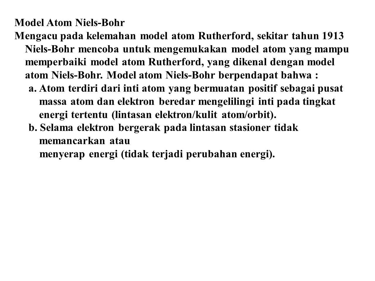 Model Atom Niels-Bohr