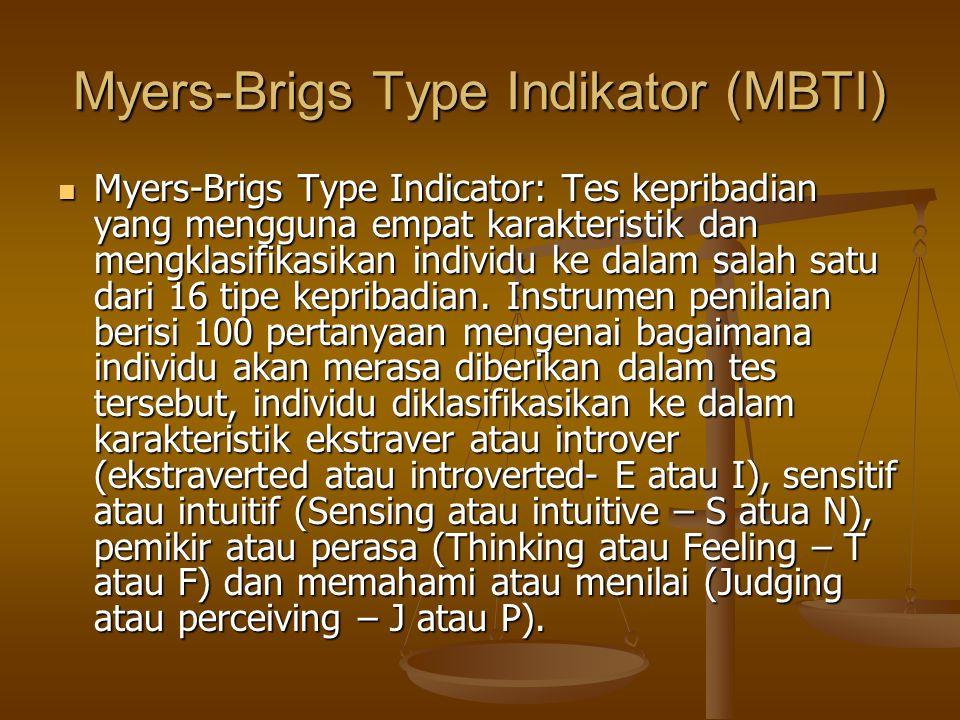 Myers-Brigs Type Indikator (MBTI)