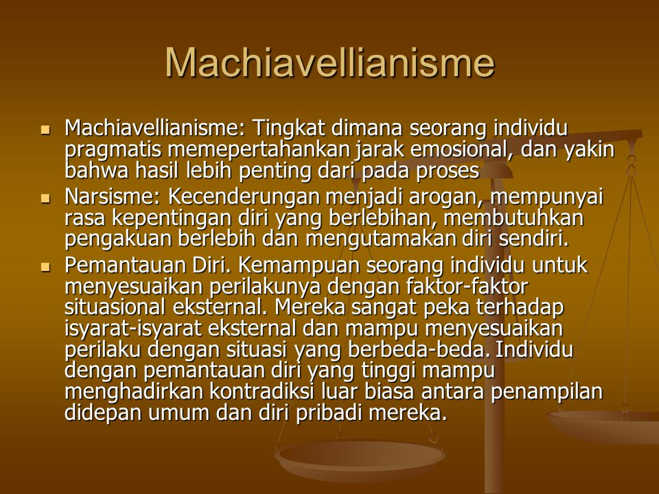 Machiavellianisme