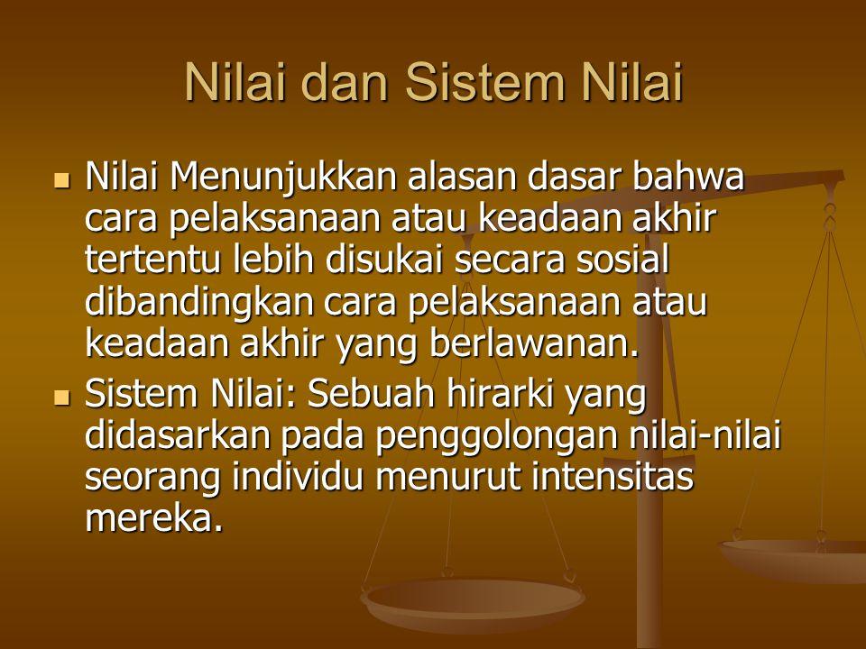Nilai dan Sistem Nilai