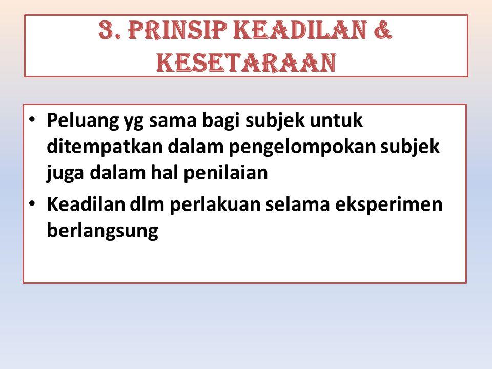 3. PRINSIP KEADILAN & KESETARAAN