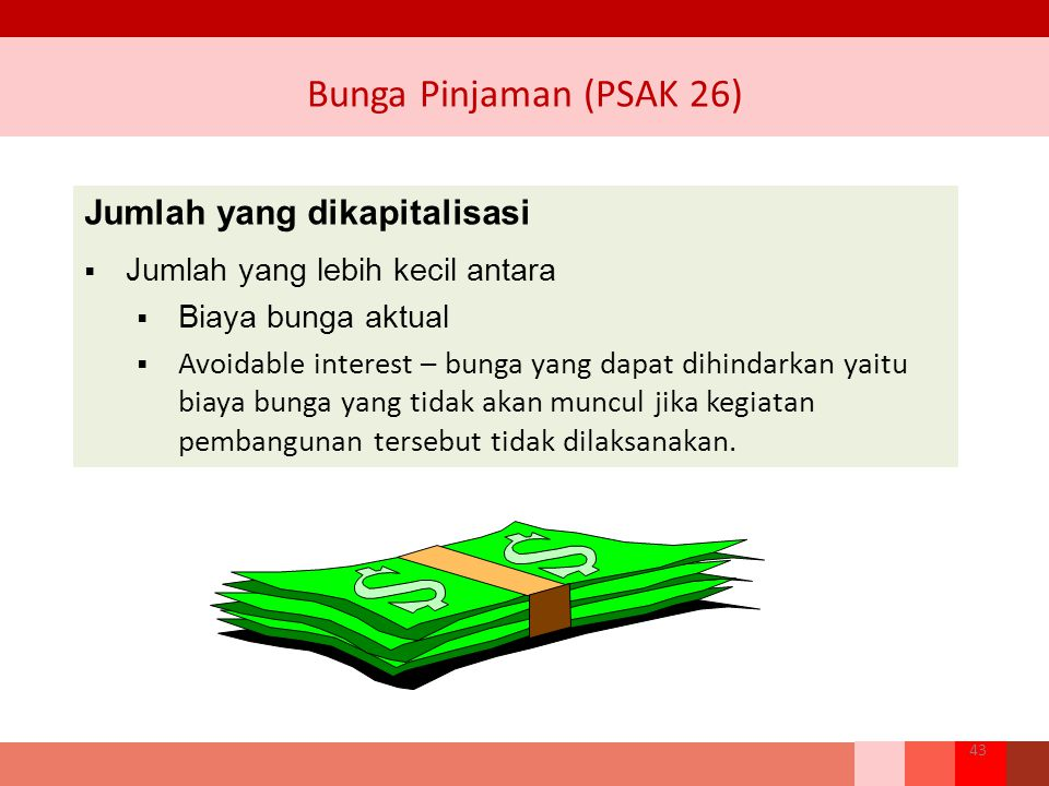 Bunga Pinjaman (PSAK 26) Jumlah yang dikapitalisasi