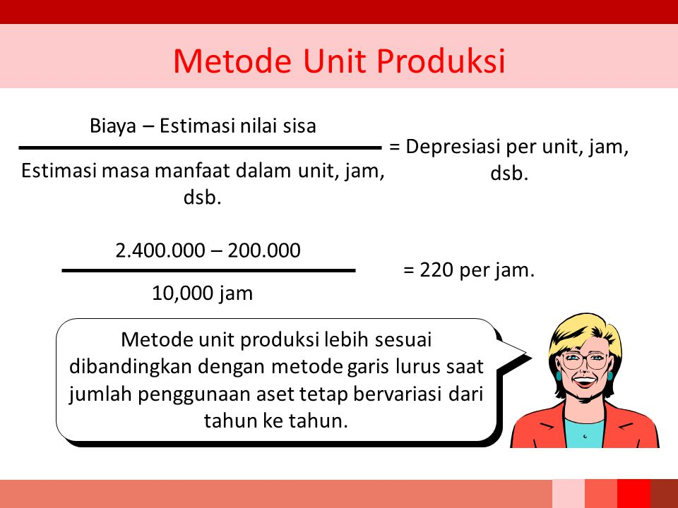 Metode Unit Produksi Biaya – Estimasi nilai sisa