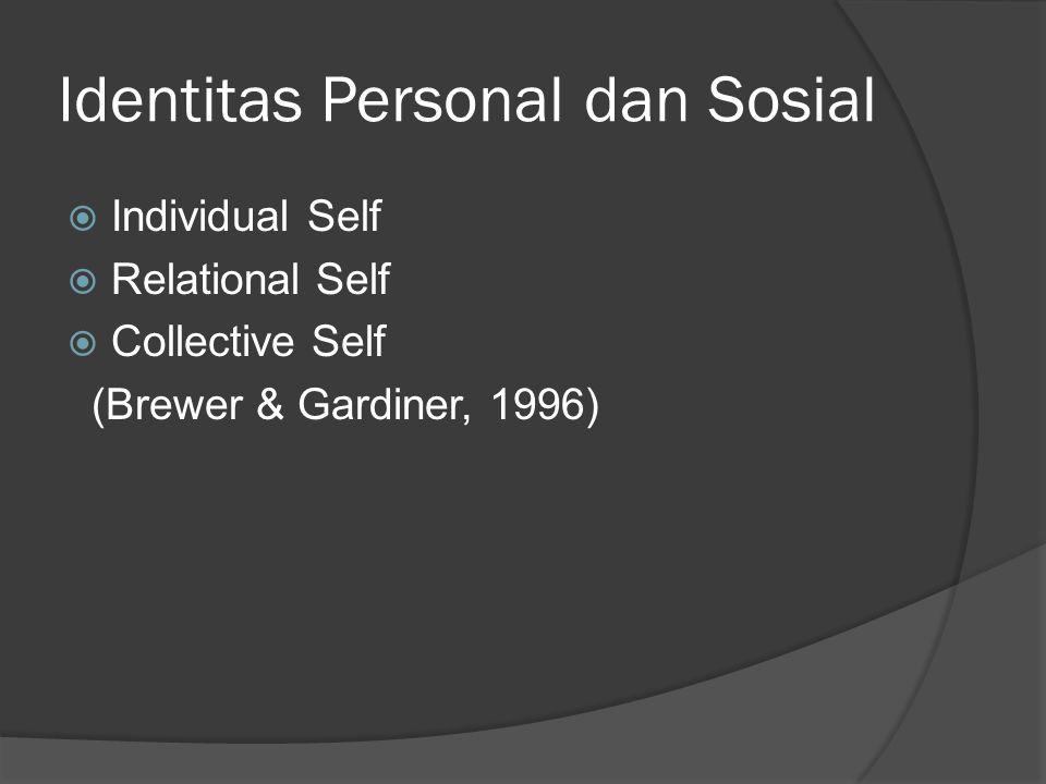 Identitas Personal dan Sosial
