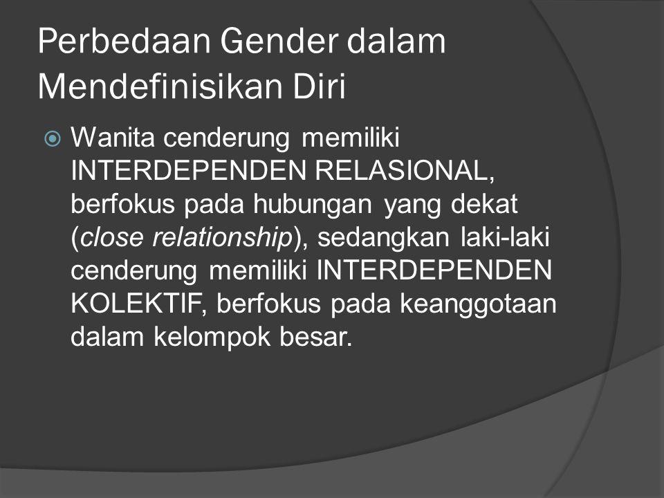 Perbedaan Gender dalam Mendefinisikan Diri