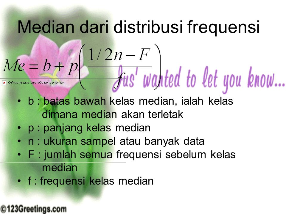 Median dari distribusi frequensi