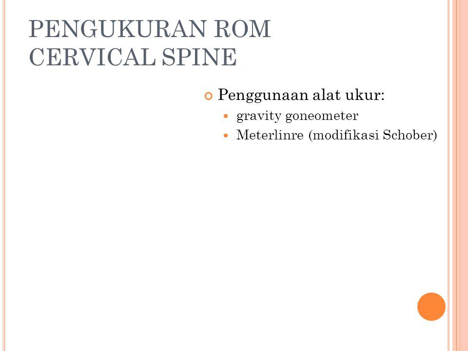 PENGUKURAN ROM CERVICAL SPINE