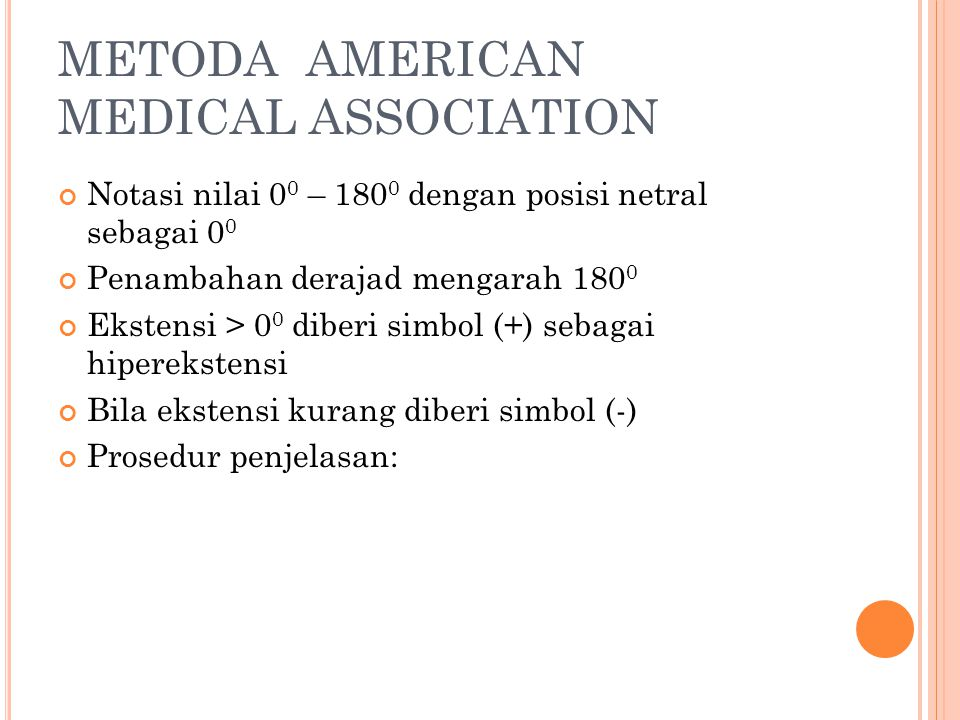 METODA AMERICAN MEDICAL ASSOCIATION