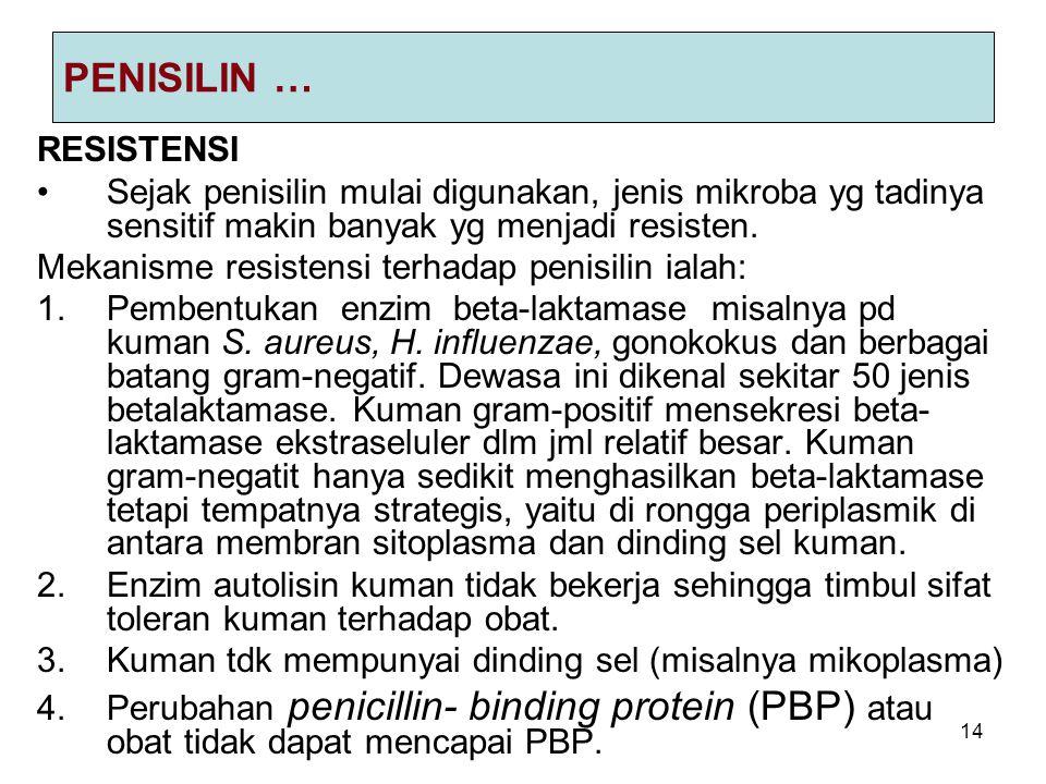 PENISILIN … RESISTENSI