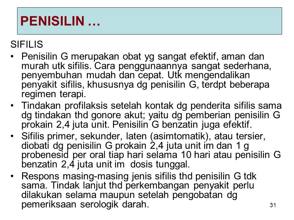 PENISILIN … SIFILIS.