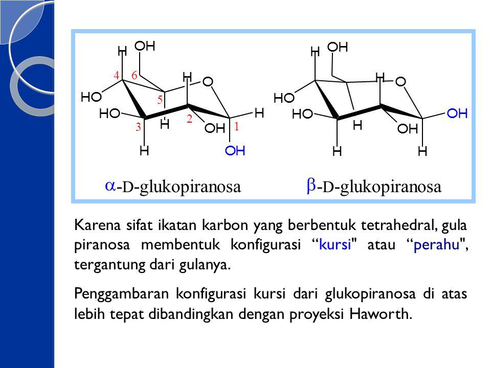 O H. a. - D. glukopiranosa. b. 1. 6. 5. 4. 3. 2.