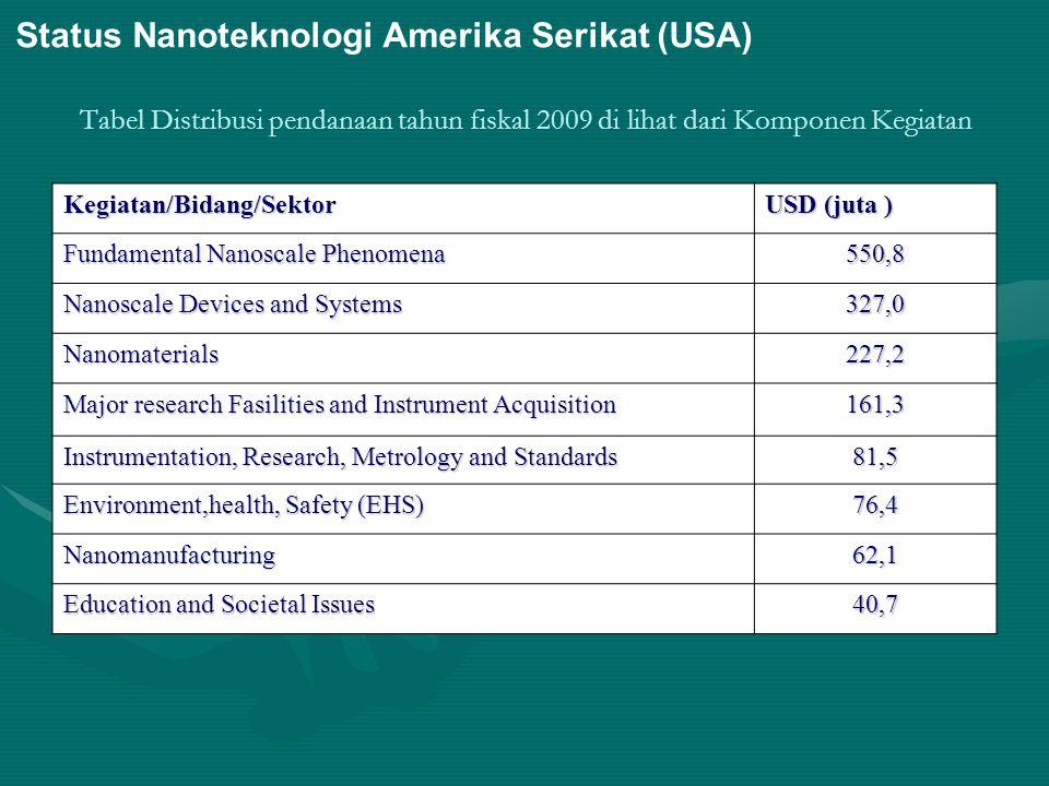 Status Nanoteknologi Amerika Serikat (USA)