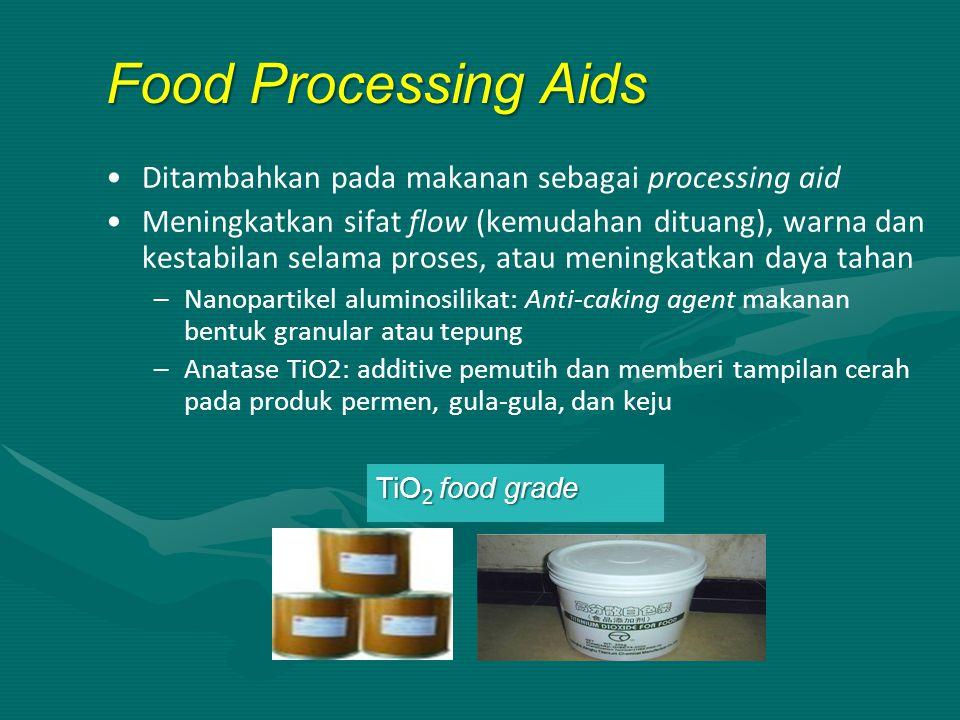 Food Processing Aids Ditambahkan pada makanan sebagai processing aid