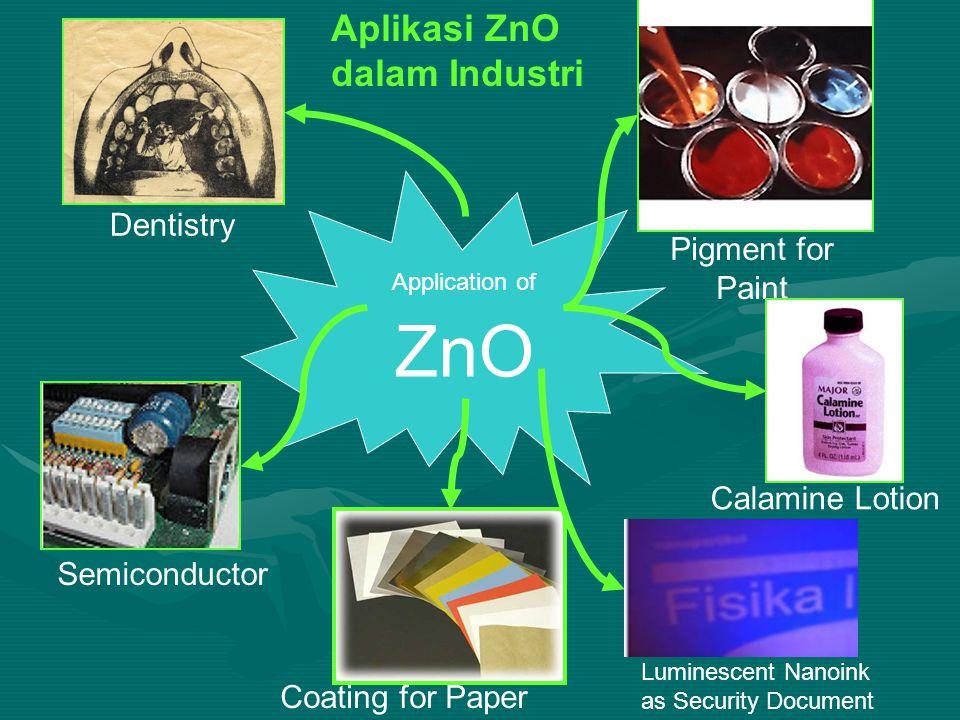 Aplikasi ZnO dalam Industri