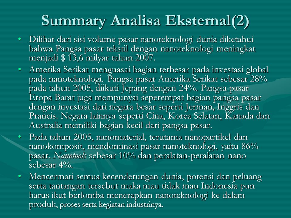 Summary Analisa Eksternal(2)