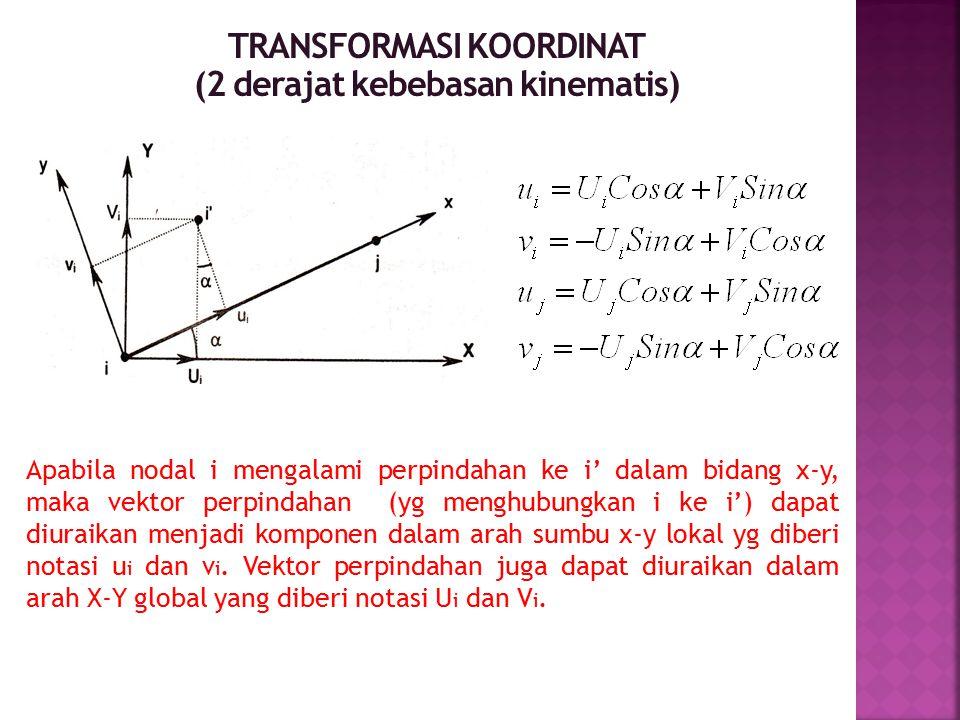 TRANSFORMASI KOORDINAT (2 derajat kebebasan kinematis)