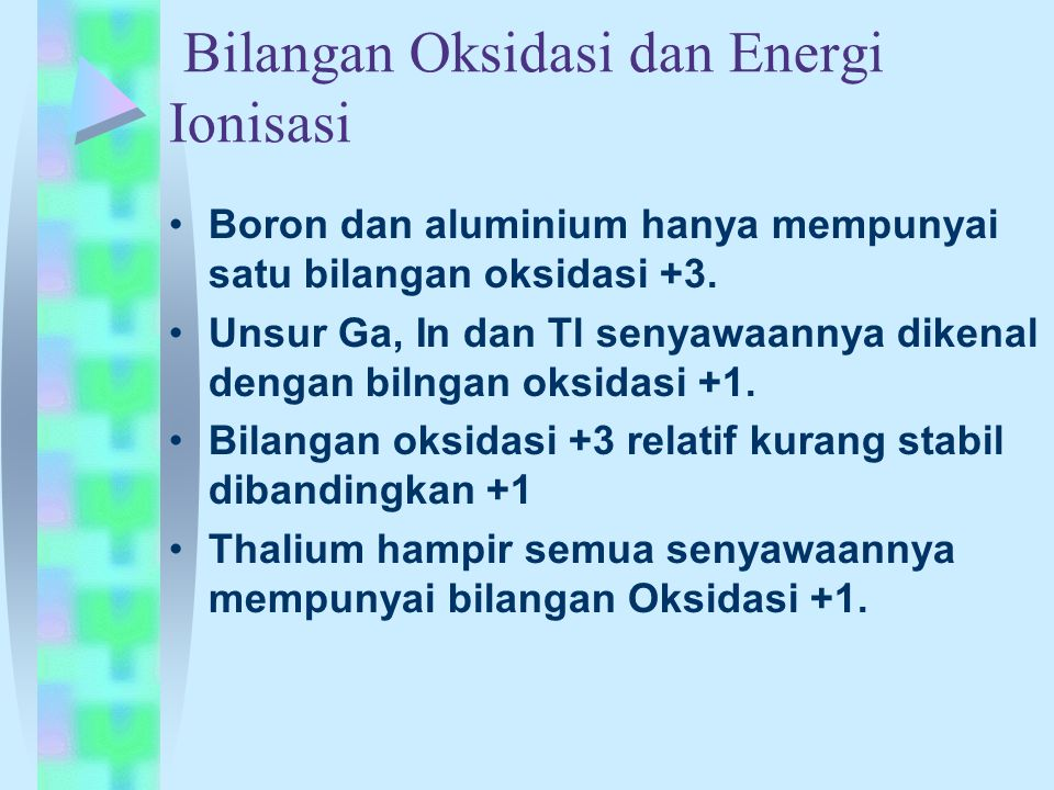 Bilangan Oksidasi dan Energi Ionisasi