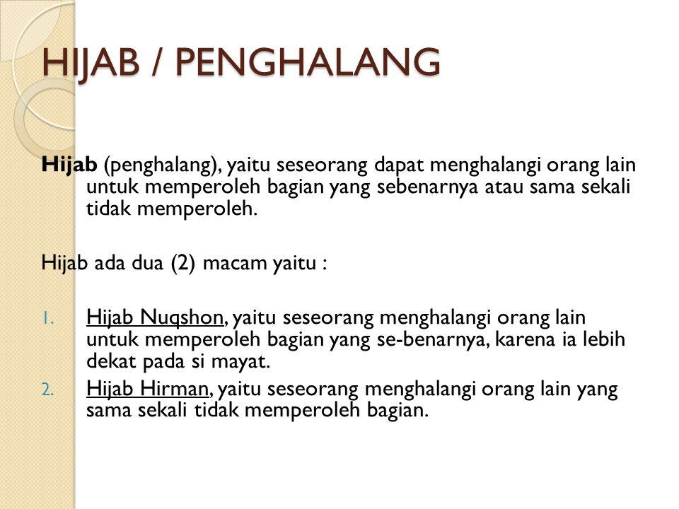 HIJAB / PENGHALANG