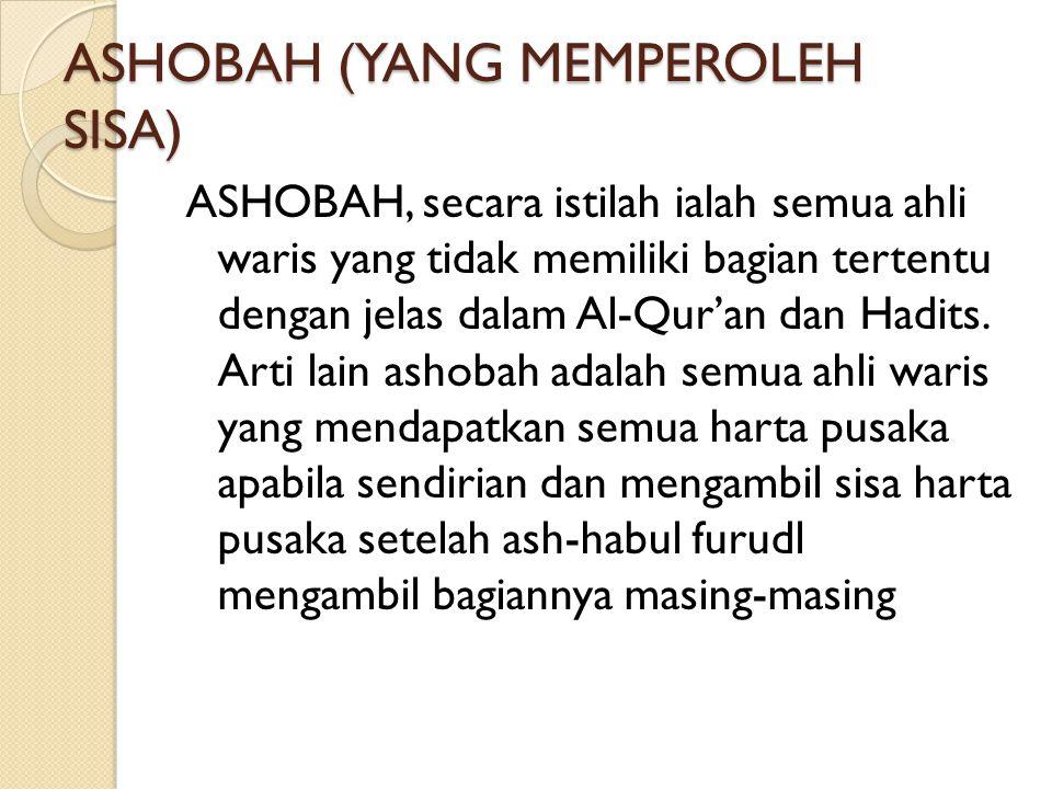 ASHOBAH (YANG MEMPEROLEH SISA)