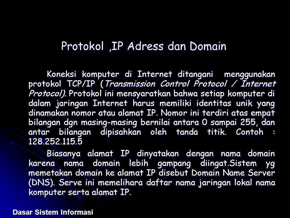 Protokol ,IP Adress dan Domain