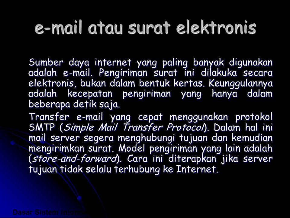 e-mail atau surat elektronis