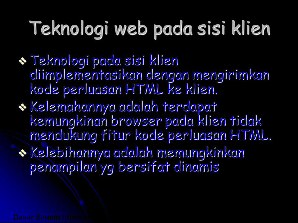 Teknologi web pada sisi klien