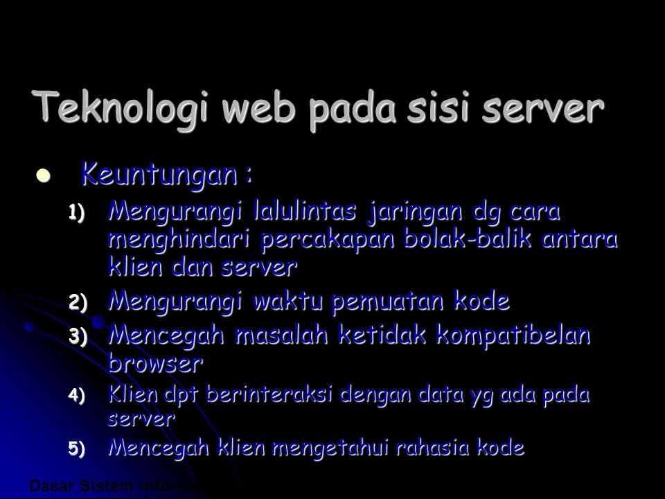 Teknologi web pada sisi server