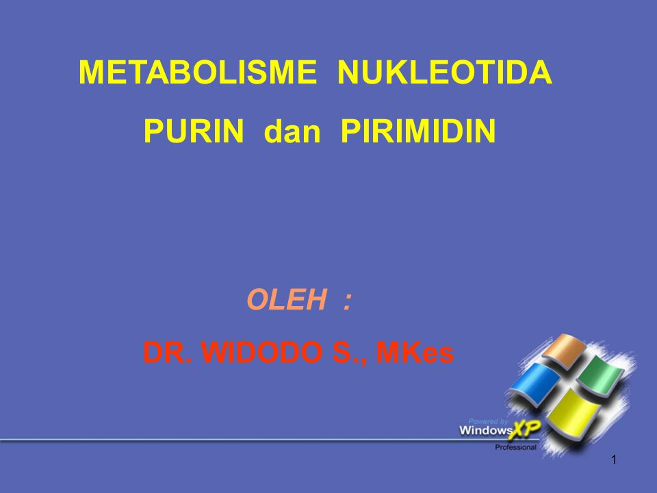 METABOLISME NUKLEOTIDA PURIN dan PIRIMIDIN