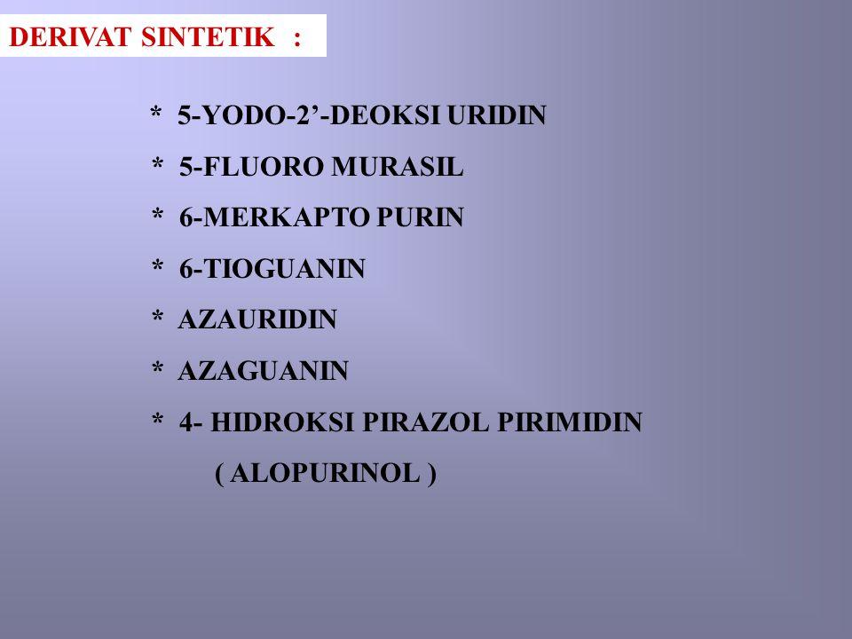 * 4- HIDROKSI PIRAZOL PIRIMIDIN ( ALOPURINOL )