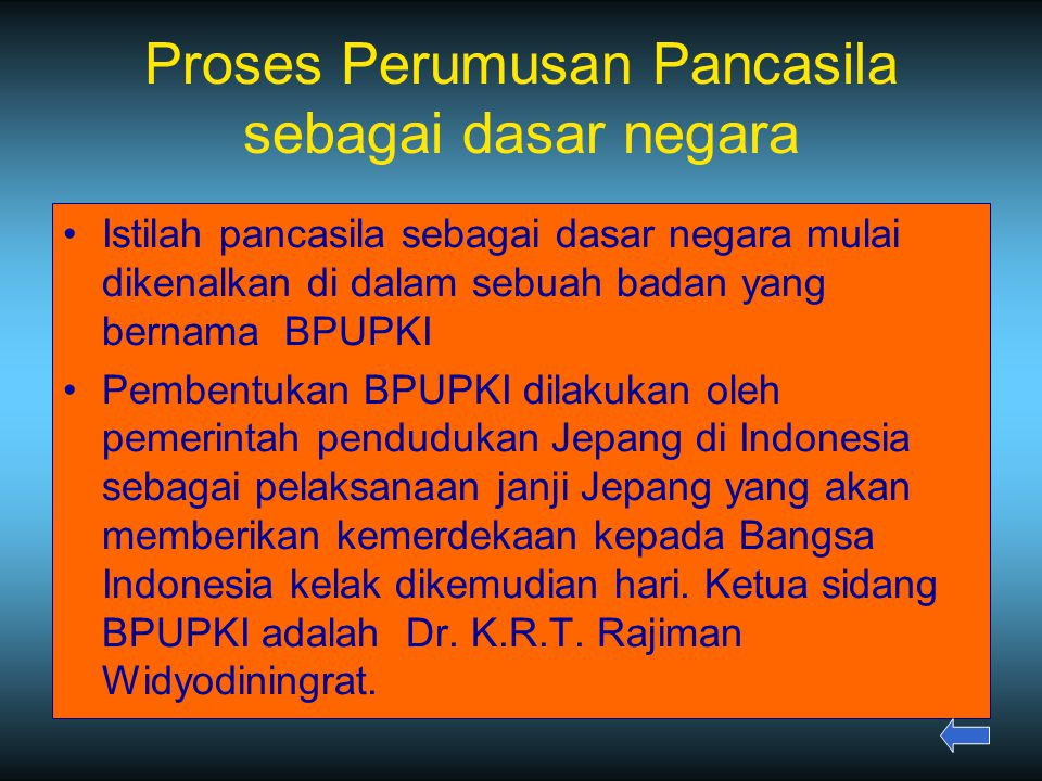 Proses Perumusan Pancasila sebagai dasar negara