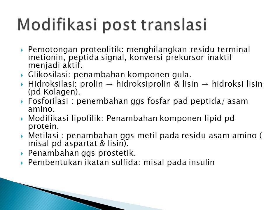 Modifikasi post translasi