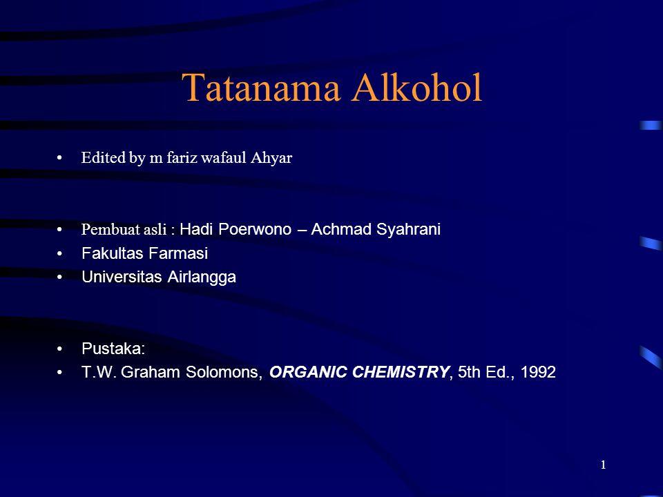 Tatanama Alkohol Edited by m fariz wafaul Ahyar