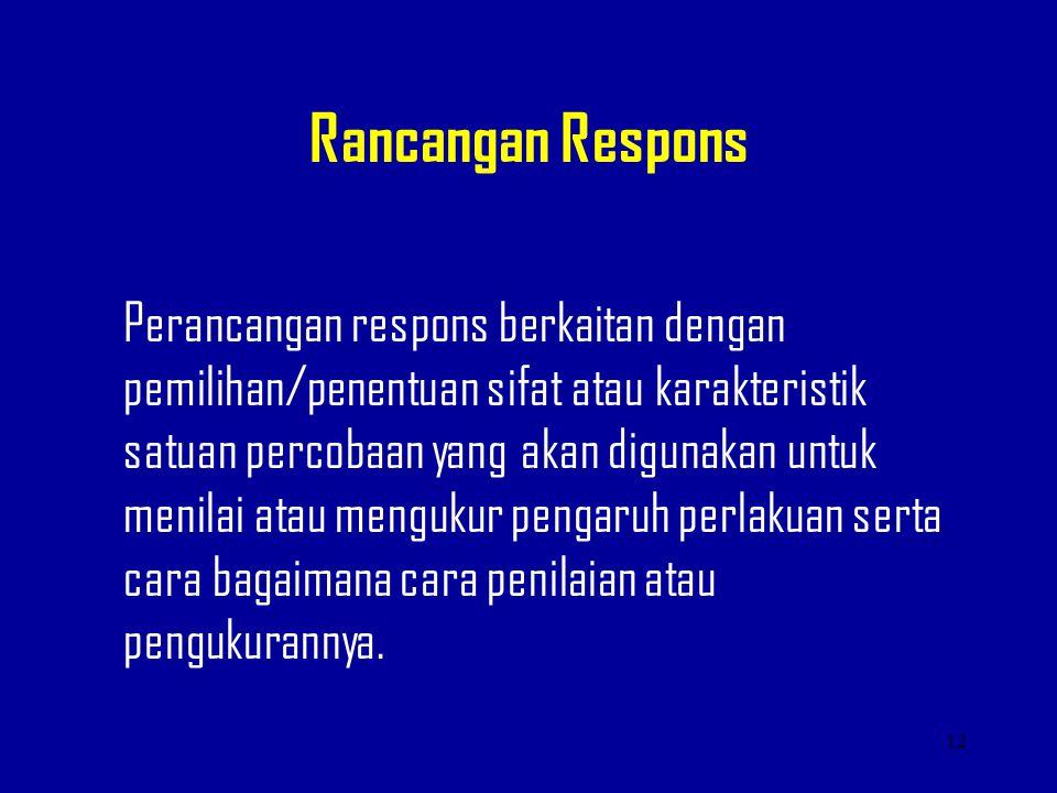 Rancangan Respons