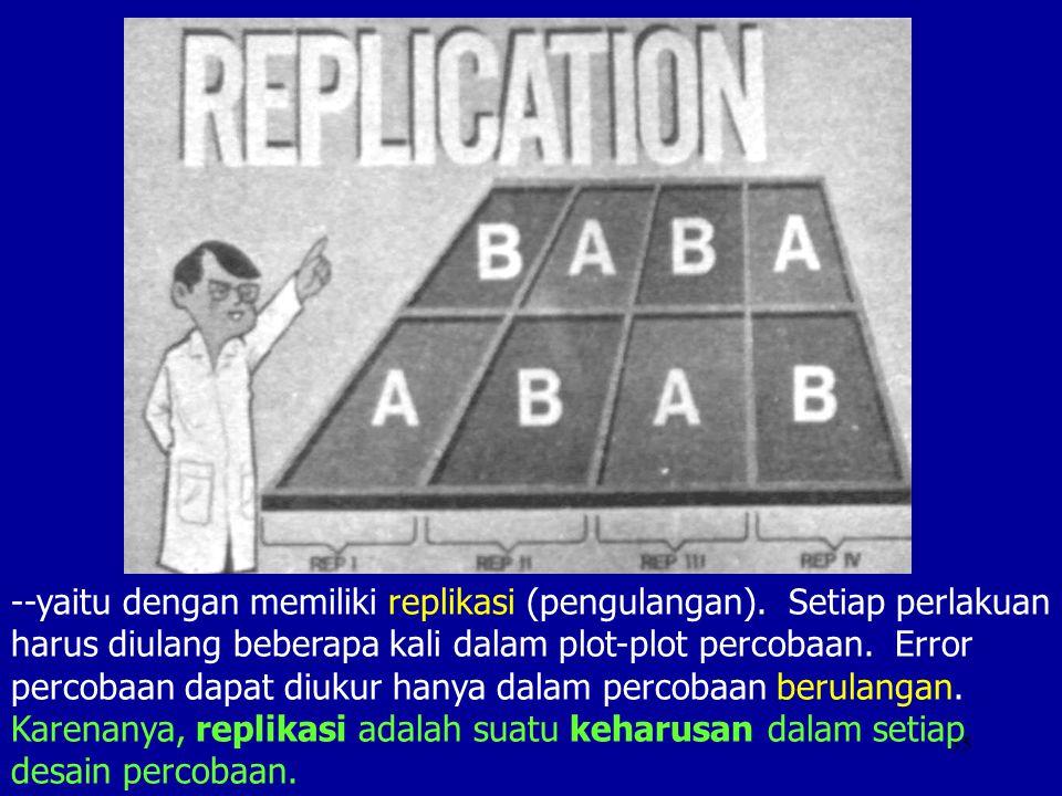 --yaitu dengan memiliki replikasi (pengulangan)