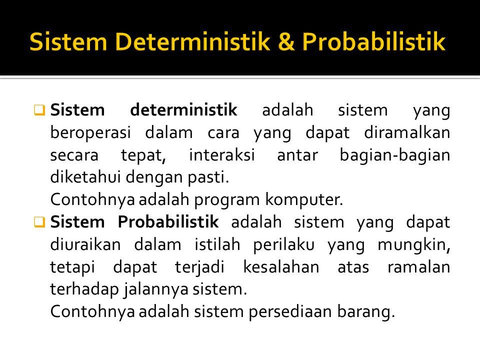 Sistem Deterministik & Probabilistik