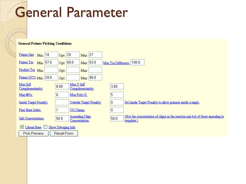 General Parameter