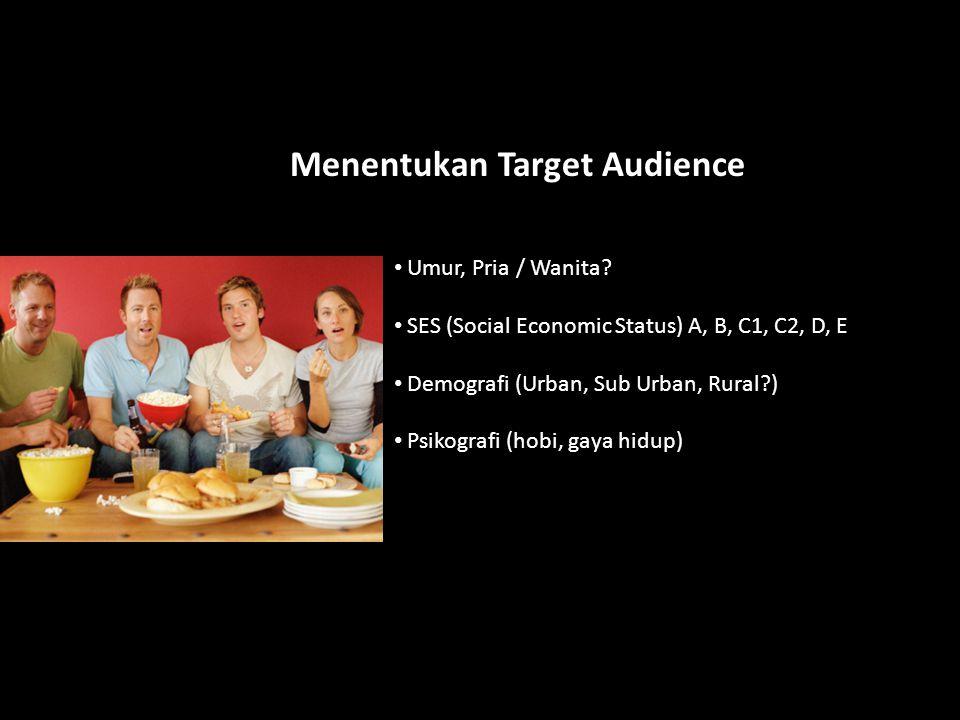 Menentukan Target Audience