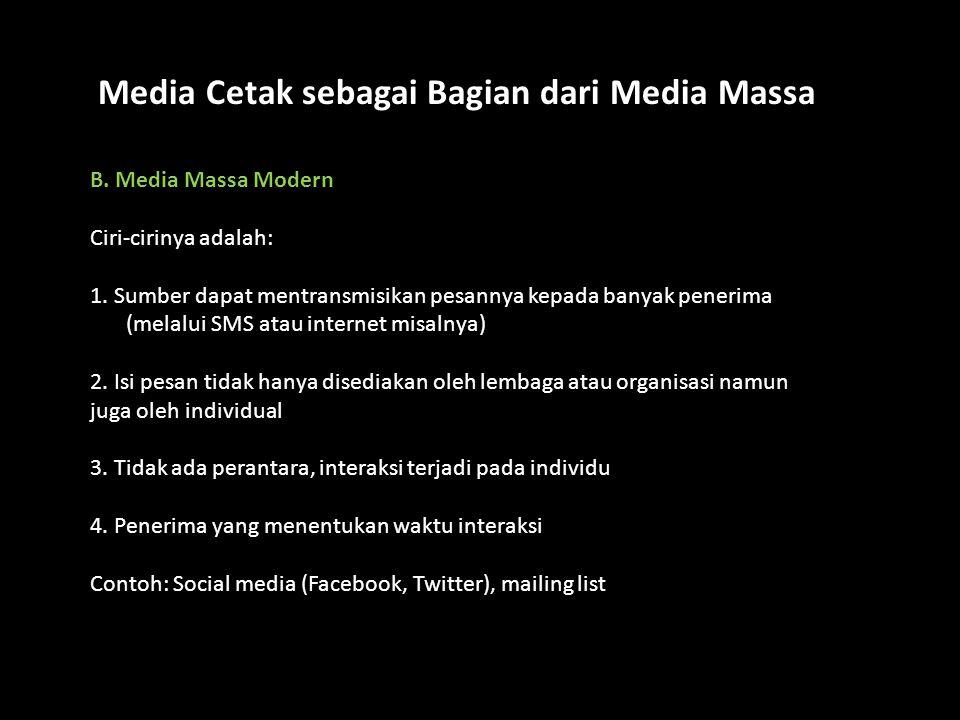 Media Cetak sebagai Bagian dari Media Massa