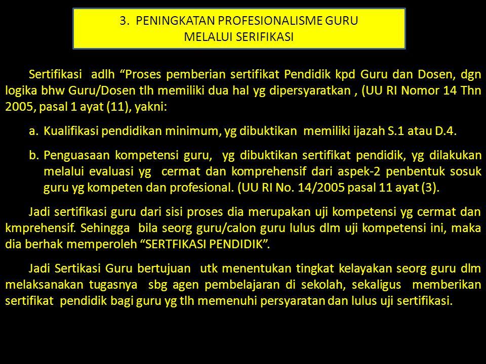 3. PENINGKATAN PROFESIONALISME GURU