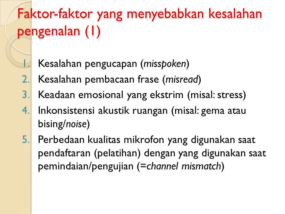 Faktor-faktor yang menyebabkan kesalahan pengenalan (1)