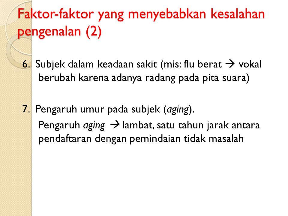 Faktor-faktor yang menyebabkan kesalahan pengenalan (2)