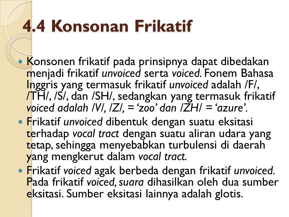 4.4 Konsonan Frikatif