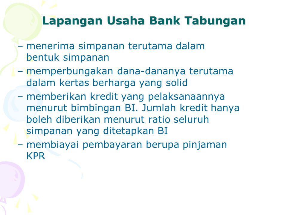 Lapangan Usaha Bank Tabungan