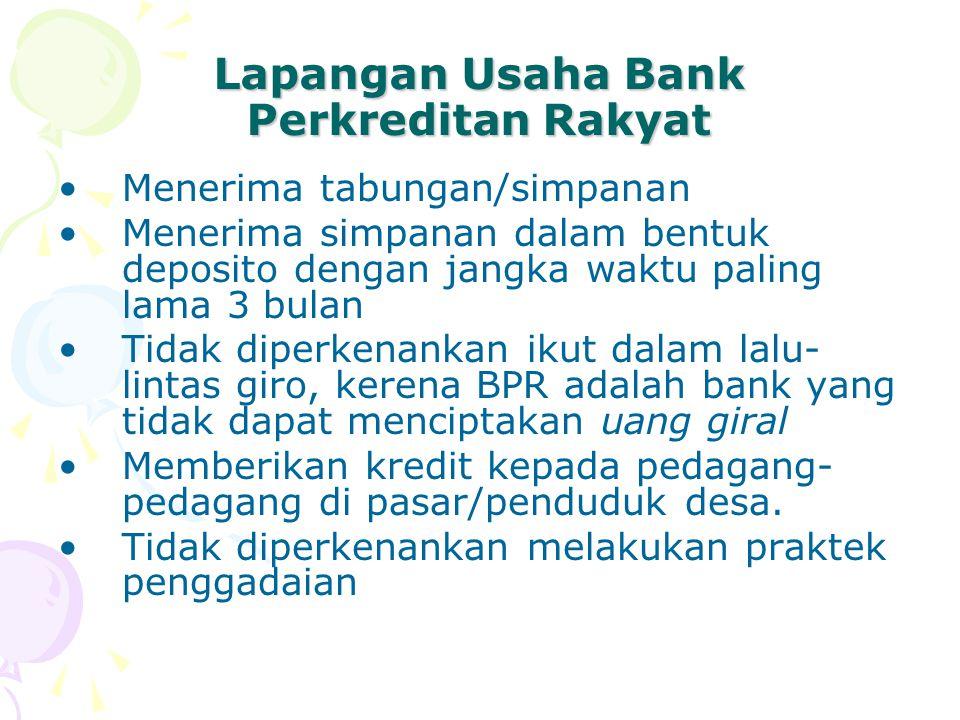 Lapangan Usaha Bank Perkreditan Rakyat