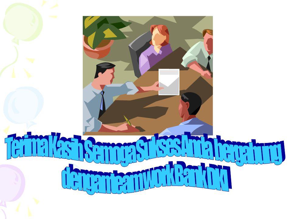 Terima Kasih Semoga Sukses Anda bergabung dengan team work Bank DKI