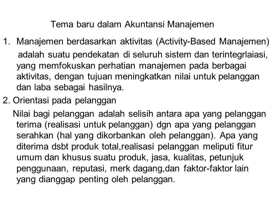 Tema baru dalam Akuntansi Manajemen