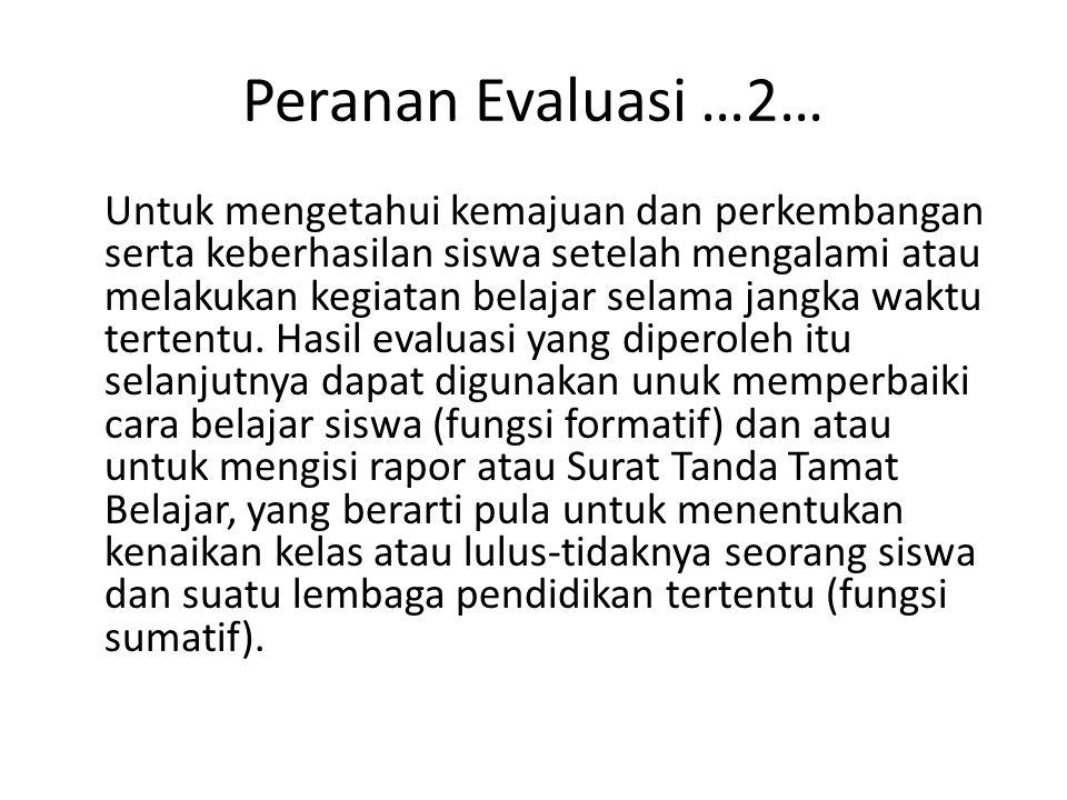 Peranan Evaluasi …2…